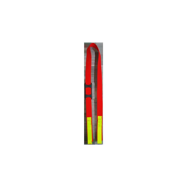 Sangle portage Halligan tools , coutre sangle rouge et rétro-reffléchissant, gilet porteur d'eau